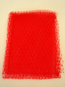 Red Homemade Scouring Pad