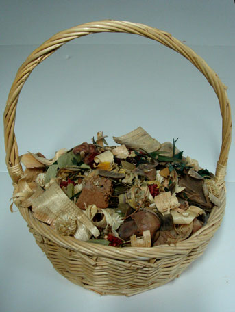 Basket of Cleaned Potpourri