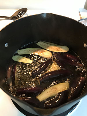 Eggplant in Boiling Water