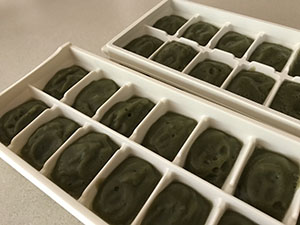 Eggplant in Ice Cube Tray